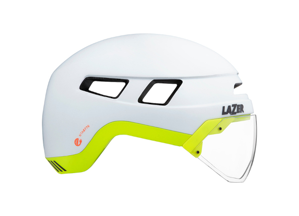 Helm Urbanize Matte White Flash Yellow Karussellbild