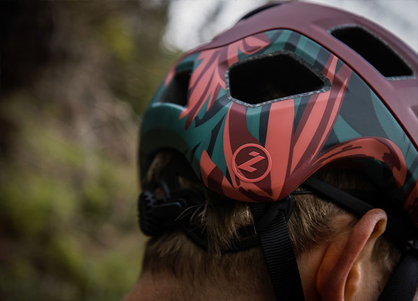 Century Helmet Red Rainforest